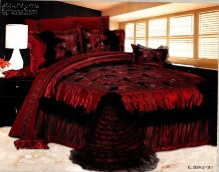 مفارش سرير حمراء