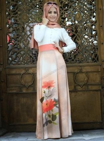 احدث موضة لفساتين المحجبات (4)