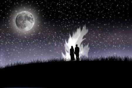 خلفيات القمر والليل وخلفيات الغروب (3)