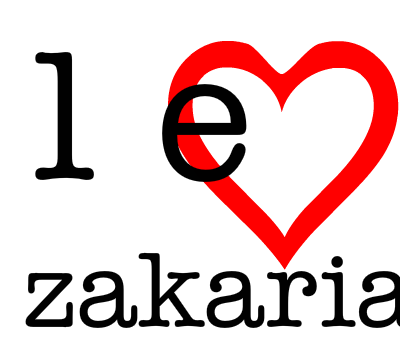 I LOVE ZAKARIA