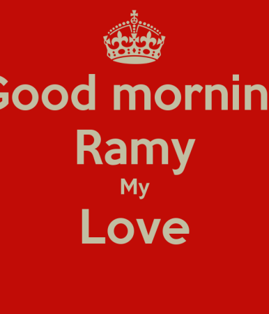 good morning ramy