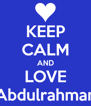 keep calm and love abdulrahman (1)