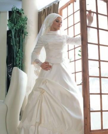 فساتين اعراس للمحجبات (2)