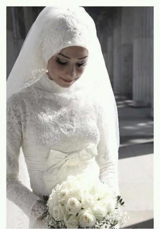 فساتين عروس محجبات (2)