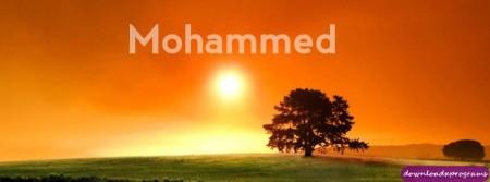 اسم محمد مكتوب علي صور (2)