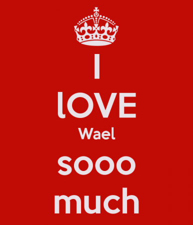 keep calm and love wael (3)