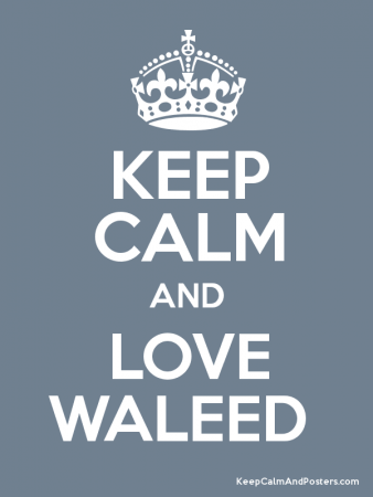 keep calm and love waleed (1)