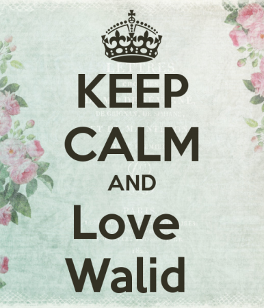 keep calm and love waleed (4)
