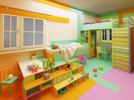 اروع غرف اطفال