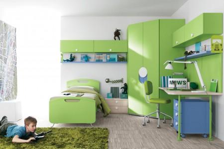 غرف اطفال خضراء