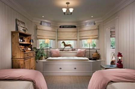 غرف نوم اطفال خشب (2)