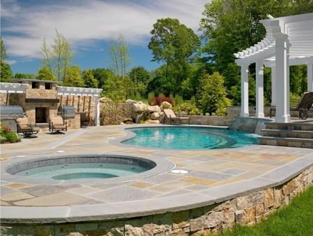 اشكال وتصميمات حمام السباحة الحديث (1)