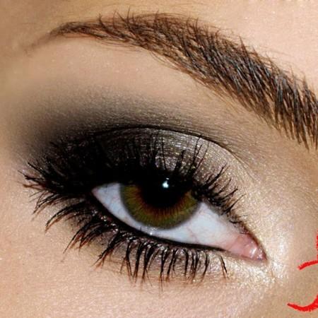 مكياج عيون سموكي (2)
