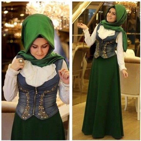 55ec66e40db31 صور تصميمات ملابس محجبات تركية للعيد 2015