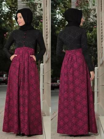 c57bcdfa53c6f صور تصميمات ملابس محجبات تركية للعيد 2015