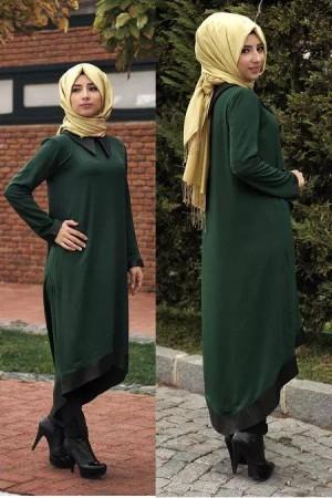 97d59e07325db صور تصميمات ملابس محجبات تركية للعيد 2015