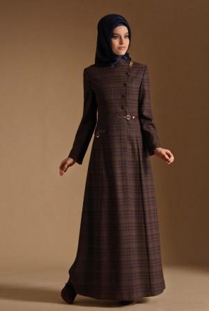 موضة الوان ملابس المحجبات وتنسيق الملابس لشتاء 2015 (1)