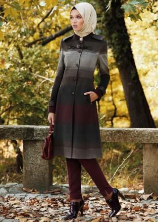موضة الوان ملابس المحجبات وتنسيق الملابس لشتاء 2015 (2)