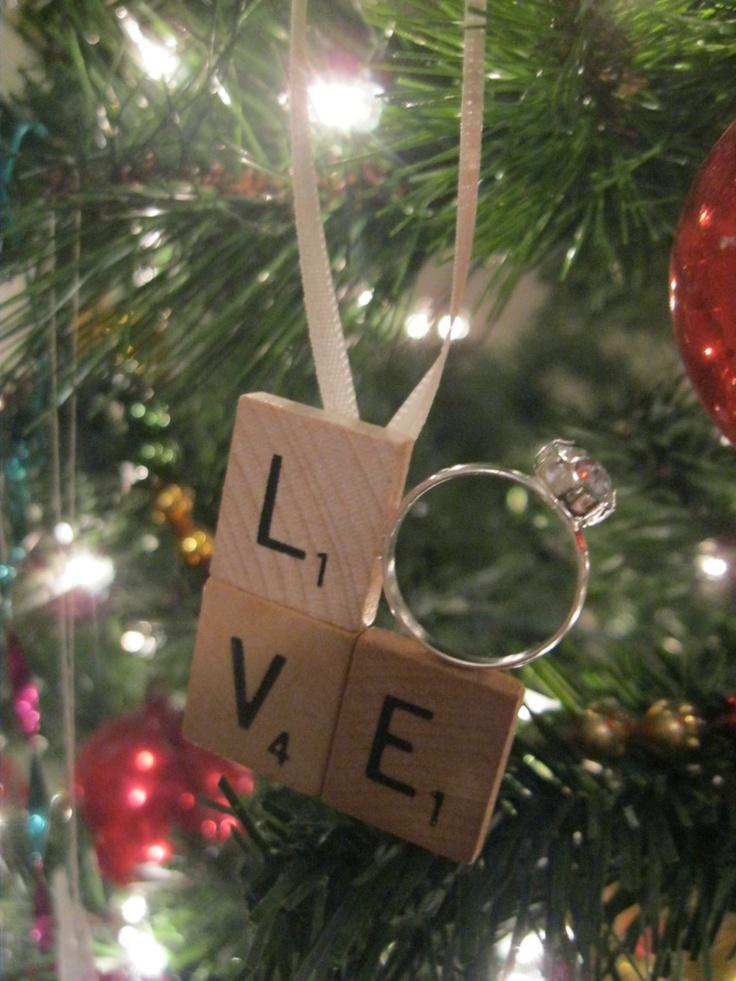 Engagement Christmas Ornament