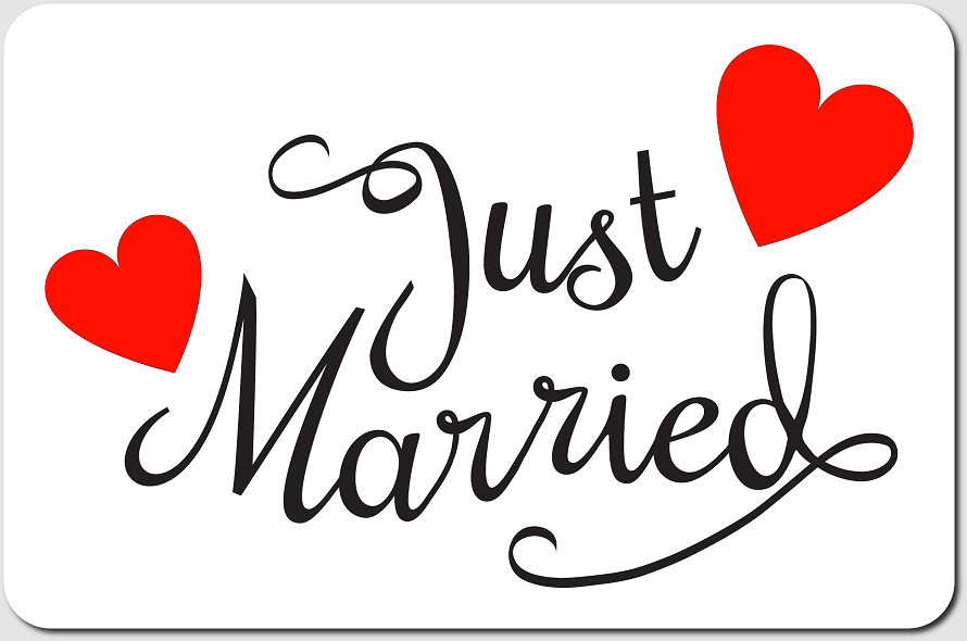صور just married فيس بوك (1)