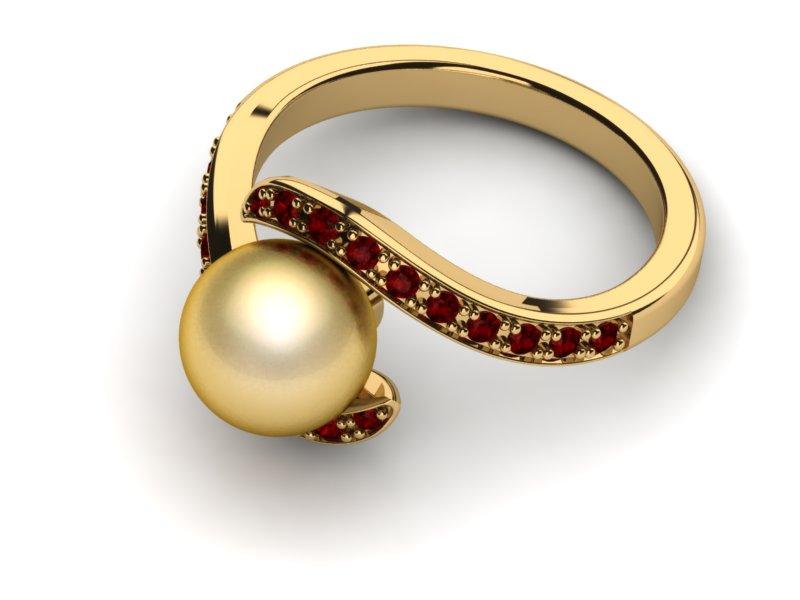 خاتم خطوبة ذهب (3)