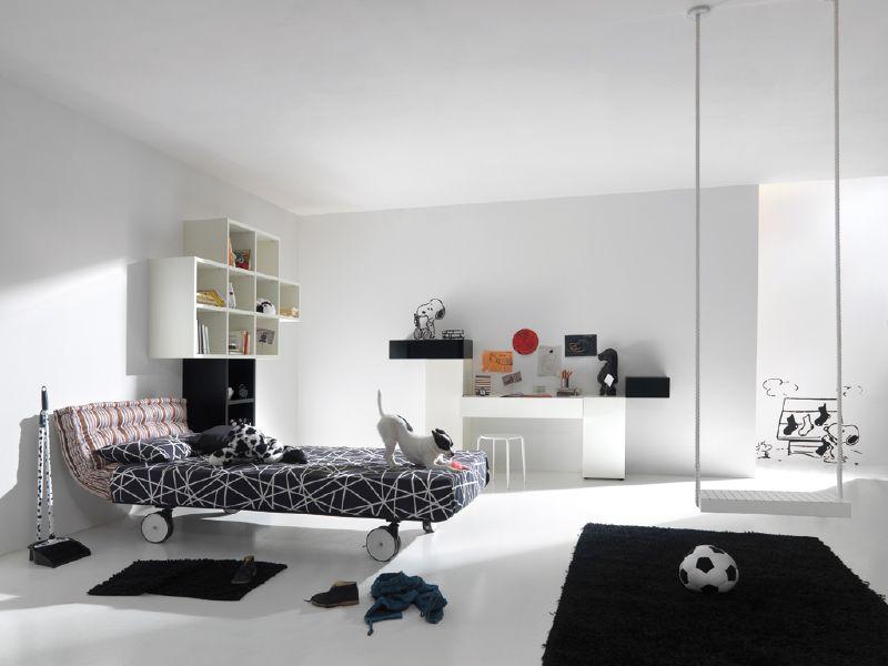 غرف نوم باللون الأبيض (6)