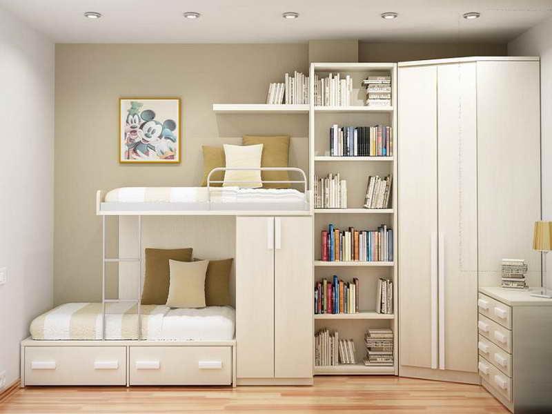 غرف نوم باللون الابيض  (2)