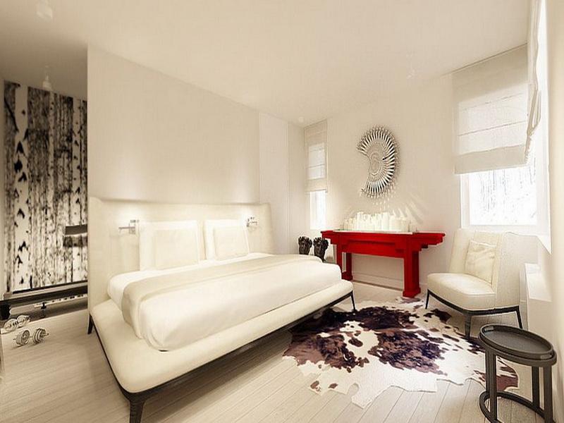 غرف نوم بيضاء مودرن  (1)