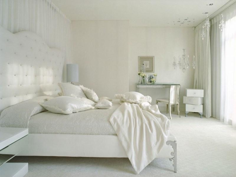 غرف نوم لون ابيض  (4)