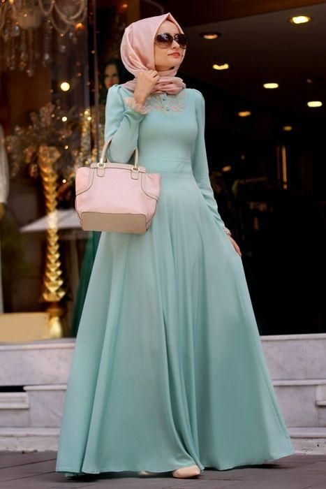 لبس سهرة محجبات 2016 (2)