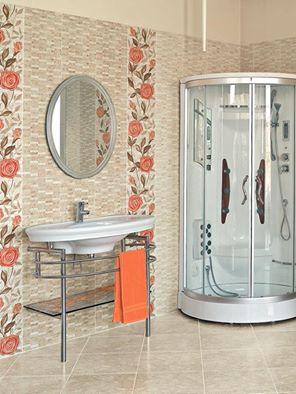 اشكال وتصميمات حمامات ارضيات سيراميك 2016 (2)