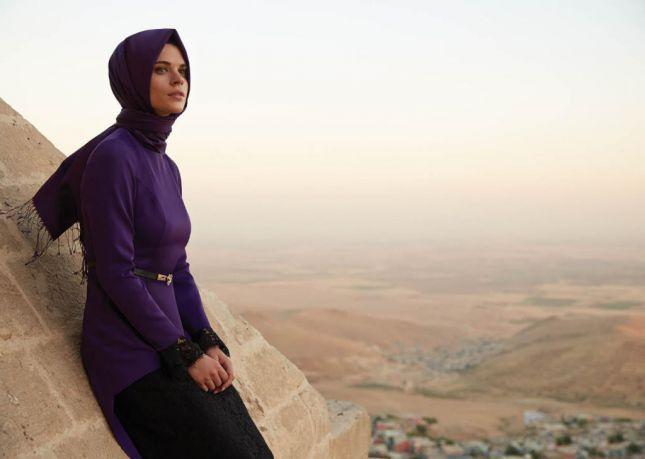صور فستان خطوبة للبنات المحجبات2016 (2)