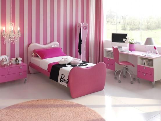 غرف نوم اطفال بنات بالوان مناسبة للبنات الكيوت 2016 (6)