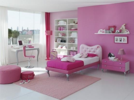 غرف نوم اطفال بنات بالوان مناسبة للبنات الكيوت 2016 (7)