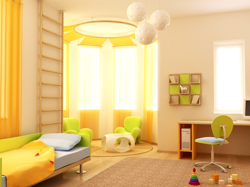 غرف نوم اطفال روعة بالوان جديدة وحديثة مودرن 2016 (3)