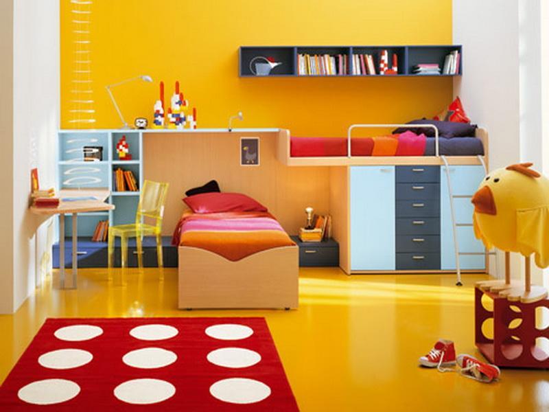 غرف نوم اطفال روعة بالوان جديدة وحديثة مودرن 2016 (4)