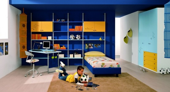 غرف نوم اطفال ولاد بالوان اولادي2016 (4)