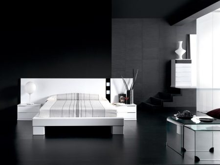 غرف نوم باللون الاسود (1)