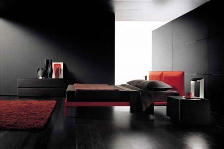 غرف نوم باللون الاسود (3)