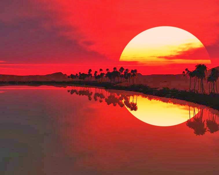 غروب الشمس بالصور (1)