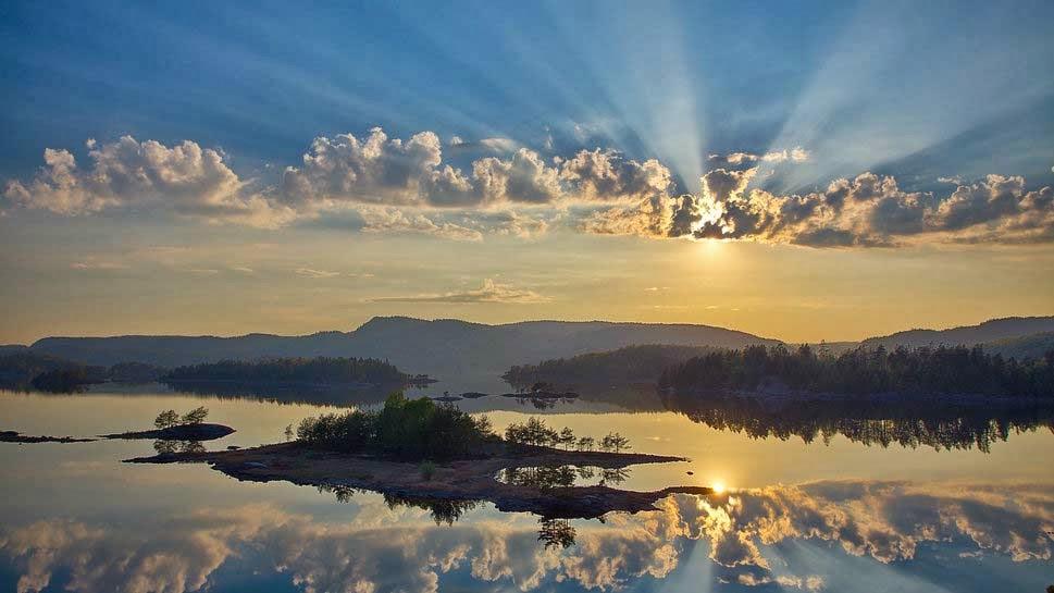 غروب الشمس بالصور (2)