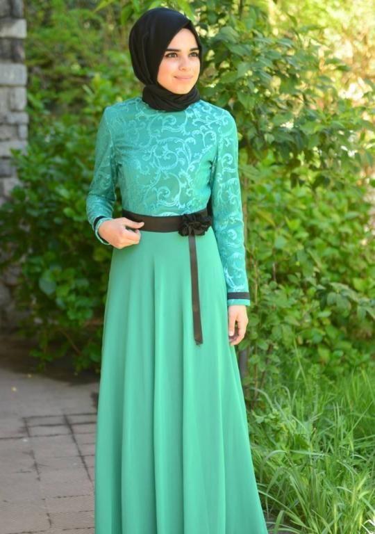 فستان خطوبة للبنات المحجبات2016 بالوان موضة جديدة (1)
