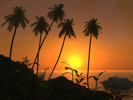 غروب الشمس علي البحر بالصور (2)
