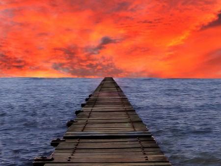 غروب الشمس علي البحر بالصور (5)