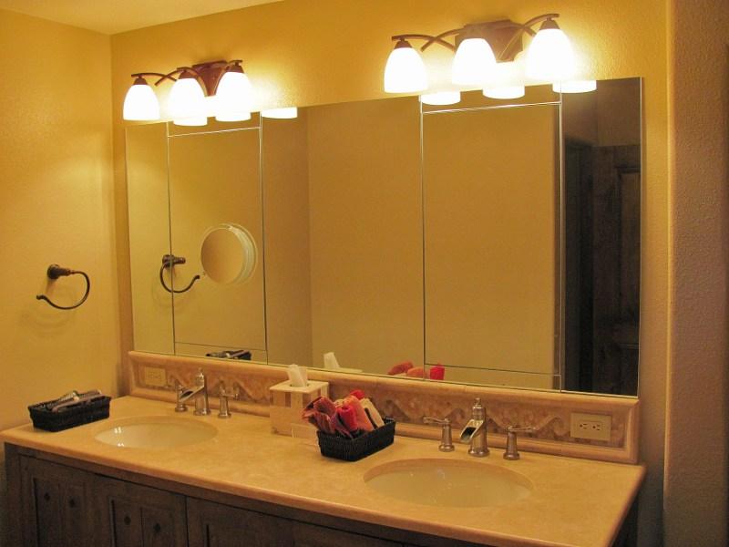 Large framed bathroom wall mirrors