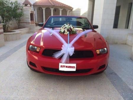 زينة سيارات الزفاف  (2)