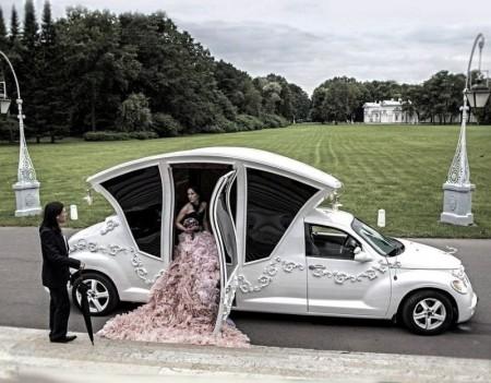 تزيين سيارات افراح للعريس والعروسة (1)