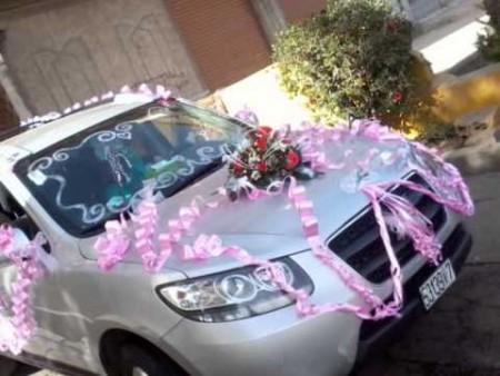 تزيين سيارة العروس  (1)