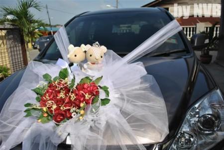 تزيين سيارة العروس  (2)