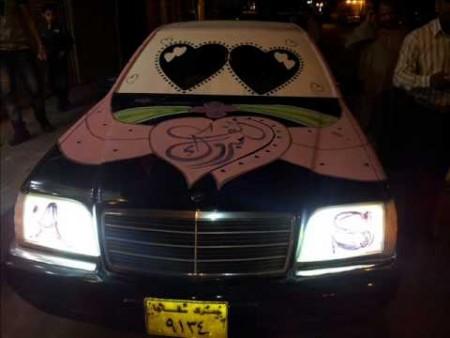 تزيين سيارة العروس  (3)